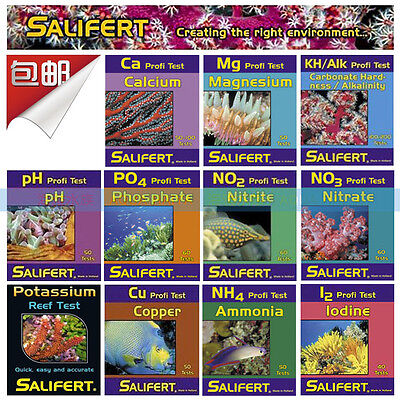 Salifert Marine Aquarium Coral Reef Water Test kit Made in Netherland Original