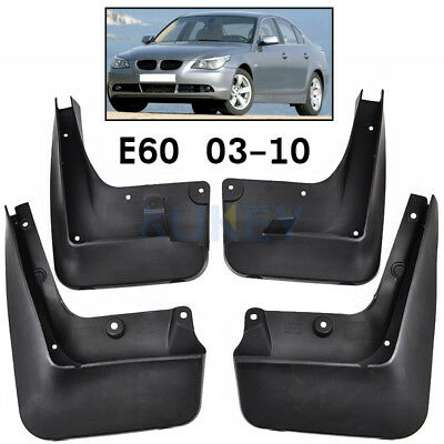 Set Molded Mudflaps Fit For 2004-2010 Bmw 5 Series E60 Mud Flap Splash Guards
