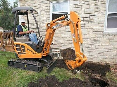 CASE CX17B - 1.7 Tonne Mini Excavator Hire $220 a Day - Delivery Available