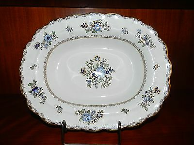 """10 1/4"""" Oblong Serving Dish - Booth's England China Pattern A8086 Scalloped Rim"""