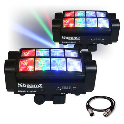 MHL820 Double Helix 8x 3W RGBW CREE LED DMX DJ Lighting Disco Club Light (Pair)
