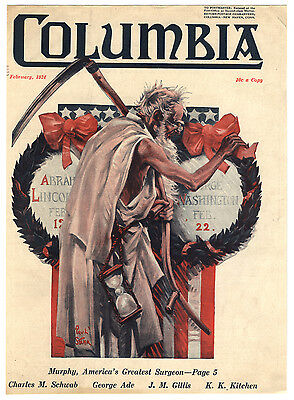 Rare Orig VTG 1924 Valentine Paul Stahr Columbia Magazine Cover Only Art Print