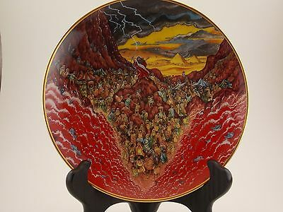 Franklin Mint Bill Bell Religious Series Parting of the Sea Collector Plate