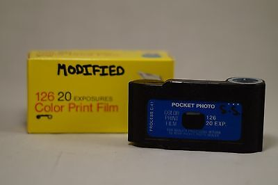 126 Cartridge modified for 35mm Film