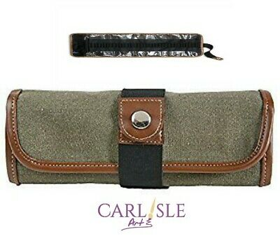 Global Art Canvas 36 Pencil Roll Up Olive