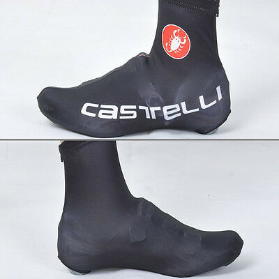 Bicycle Bike Shoe Covers Cycling Zippered Overshoes Sportswear Black