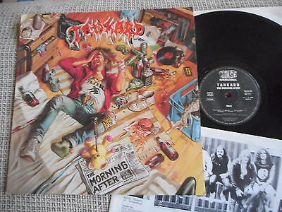 TANKARD The Morning After NOISE LP 1988 + inner sleeve