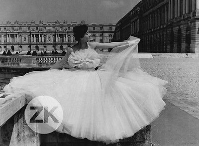 WILLY MAYWALD Photographe MODE Fashion VERSAILLES Jacques FATH Robe Photo 1950