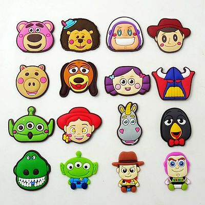 16pcs/set Kids Gifts Cartoon Toy Story Shoe Charms Fit Jibbit&Croc Wristbands