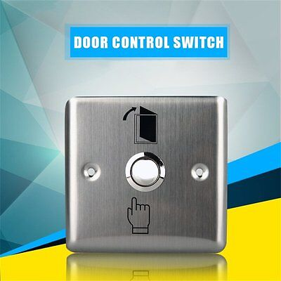Stainless Steel Home Door Exit Control Open Release Push Button Switch K14 AU