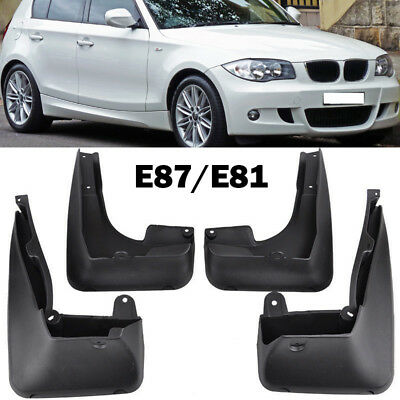 Front+Rear Mudflaps Fit For 04-11 Bmw 1 Series E81 E87 Mud Flap Splash Guards