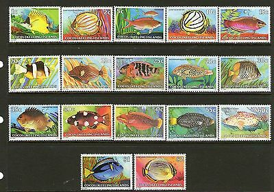 COCOS (KEELING) ISLAND 1979 DEFINITIVE FISH SERIES Stamp Pack