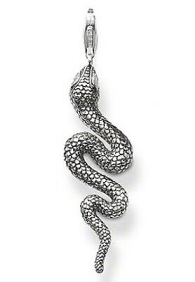 Authentic Genuine Thomas Sabo Sterling Silver Snake CZ Eyes Pendant Charm - New