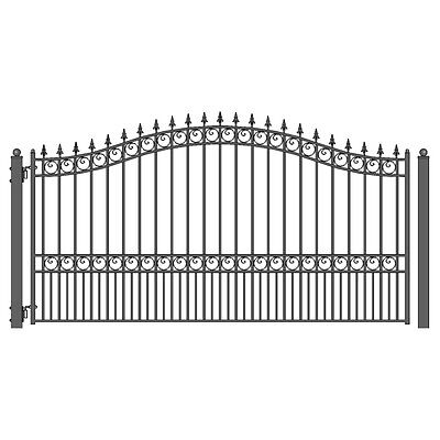 ALEKO London Style Ornamental Iron Wrought Single Swing 12' Driveway Gate