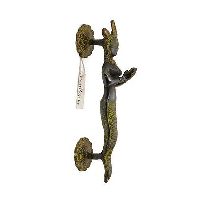 Snake Goddess Brass Door Handle Antique Finish Art Vintage Style Door Knob Decor