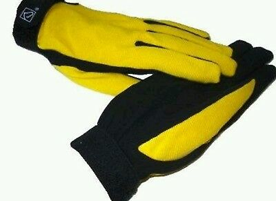 ssg All weather yellow   riding gloves