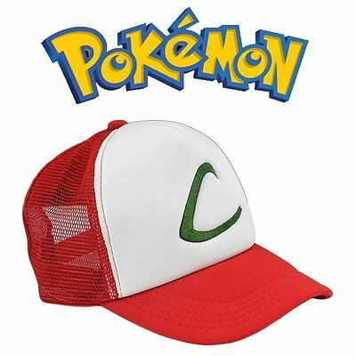 Anime Cosplay Pokemon Pocket Monster Ash Ketchum Baseball Trainer Cap Hat Gift U