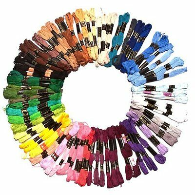 200 Trendy Mix Colors Cross Stitch Embroidery Thread Floss Cotton Sewing Skeins