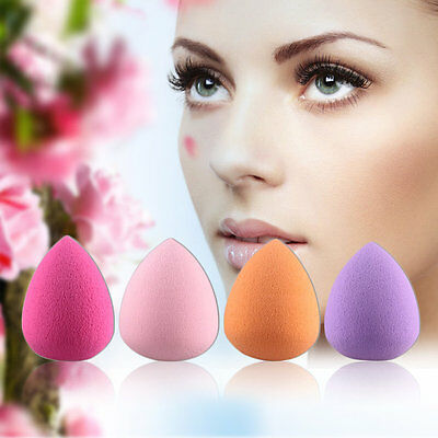 4pc Drop Shaped Makeup Sponge Blender Puff Flawless Powder Beauty Smooth FQ