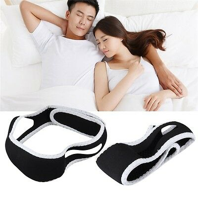 Stop Snoring Chin Strap Support Solution Sleep Anti Snore Jaw Belt Headband FQ