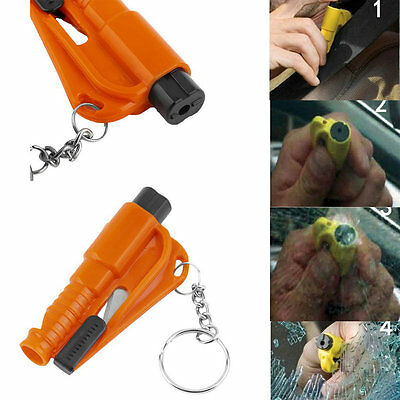 New Car Auto Emergency Safety Hammer Belt Window Breaker Cutter Escape Tool FQ