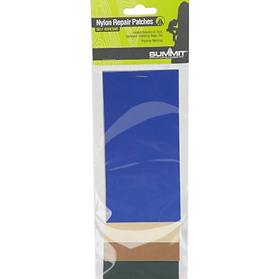 Ripstop Nylon Self Adhesive Repair Patches Tent or Clothing Camping Summit