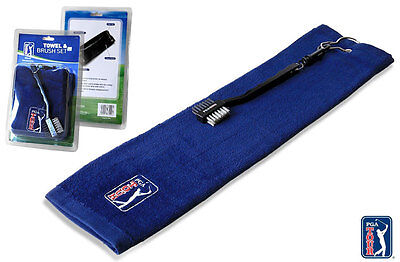 PGA Tour Golf Towel & Brush Set