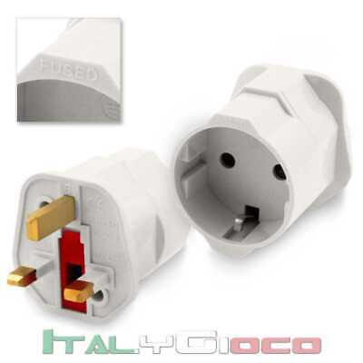 Adattatore Presa Spina EU Europe Schuko Universale a Spina UK Inglese Adapter