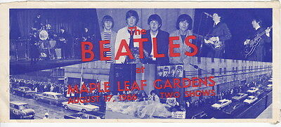 Original 1966 Beatles Press Conference Invitation - Maple Leaf Gardens & Photos