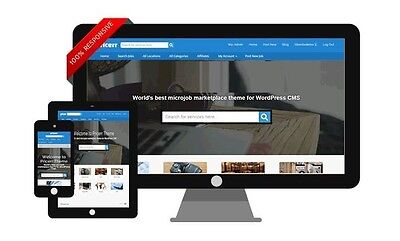Professional Micro Jobs Website Marketplace, Responsive With Active Listings