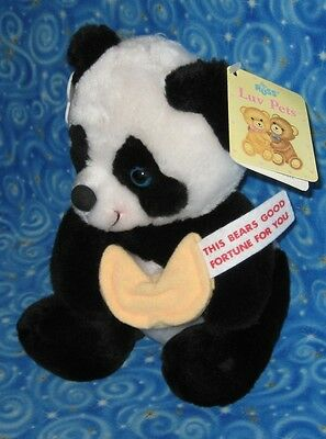 New Russ Luv Pets Panda Bear Fortune Cookie Plush Collector Quality with Tags