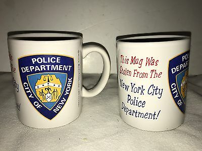 Vintage NYPD  City Of New York Police Department Coffee Mugs NEW
