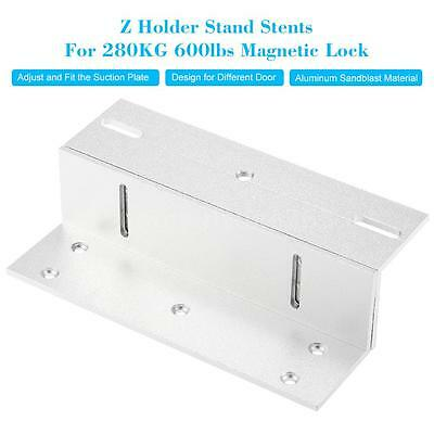 Z Mounting Magnetic Lock Bracket 280KG 600lbs Holding Force Door Security C0Q3