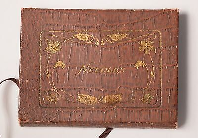 Vintage Redditch England Needle Case Pouch - Sewing Collectibles