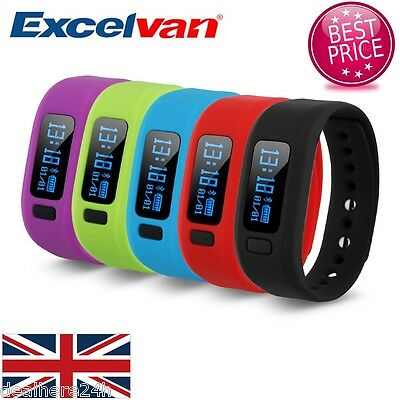 OLED Bluetooth V4.0 Smart Watch Wristband Bracelet Pedometer Fitness Tracker UK