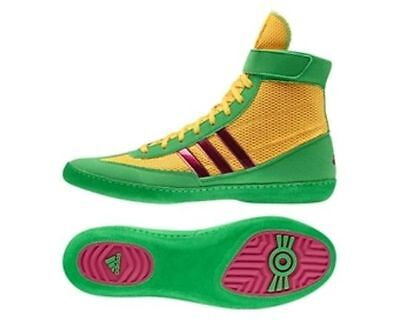 Adidas Wrestling Combat Speed 4 Gold Pink Boots Shoes Adults - AQ3059