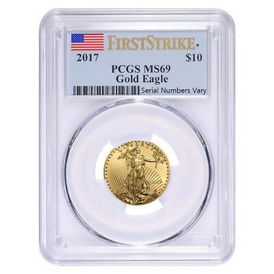 2017 1/4 oz Gold American Eagle PCGS MS 69 First Strike