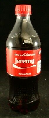 Share A Coke With JEREMY Collectible Personalized Coca Cola Bottle 20 Fl Oz
