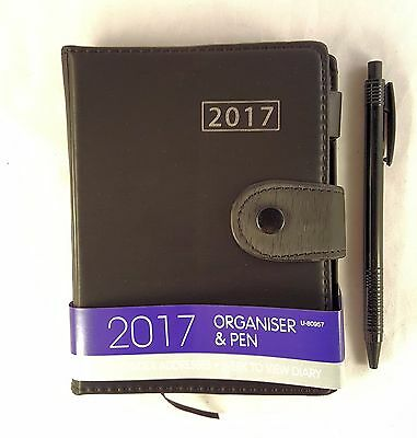 2017 A6 Diary Calendar Organiser With Pen Page a Week To View Hard Back Planners
