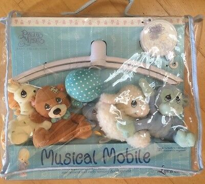 Precious Moments Baby Nursery Musical Mobile New in Box Monkey Giraffe Bear