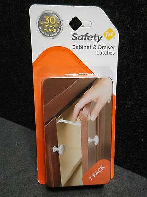 NEW Safety 1st 7 Pack Cabinet & Drawer Child Safety Latches Model 48444