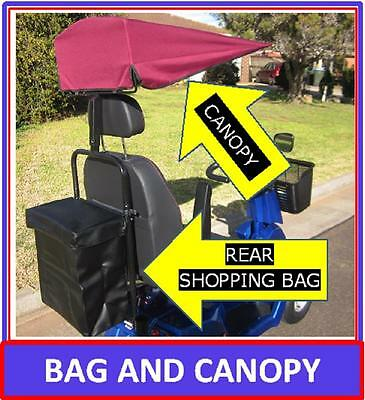 MAKE AN OFFER! Mobility Scooter Canopy & Rear Shopping Bag Set. Big Canopy & Bag