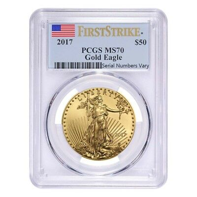 2017 1 oz Gold American Eagle PCGS MS 70 First Strike