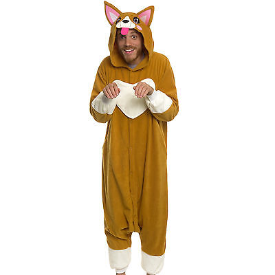 SILVER LILLY Unisex Adult Plush Animal Cosplay Costume Pajamas (Corgi)