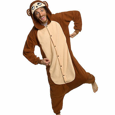 SILVER LILLY Unisex Adult Plush Animal Cosplay Costume Pajamas (Monkey)