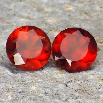 HESSONITE GARNET-MOZAMBIQUE 3.33Ct TW MATCHING PAIR-COLLECTOR GRADE GEMSTONES!