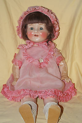 "Vintage 21"" Marked Tagged Horsman Mama Doll All Original"