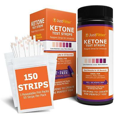 Ketone Urinalysis Kit 125 Test Strips Monitor ketones celiac paleo diabetes Keto