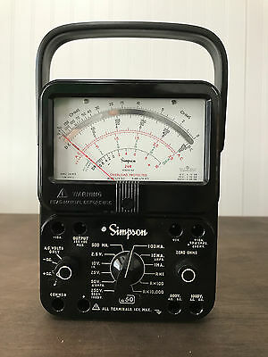 Simpson 260 Series 8P Overload Protection Multimeter, Volt-Ohm, used