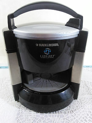 Black & Decker Lids Off Automatic Electric Jar Opener JW200 Black Tested